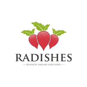 Biologische radijs logo sjabloon