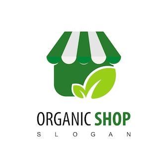 Biologische winkel logo ontwerp inspiratie