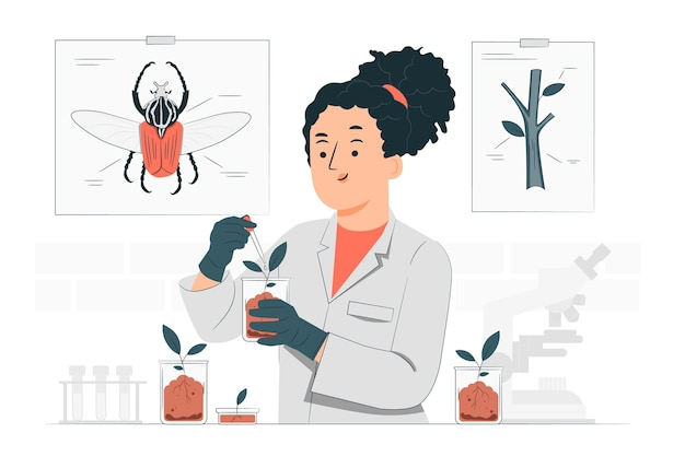 Bioloog concept illustratie