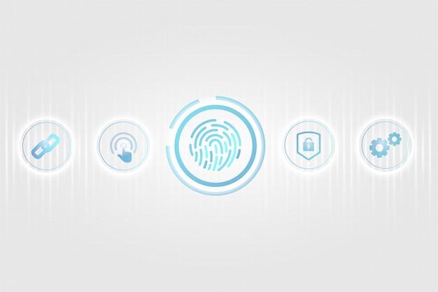 Biometrisch beveiligingsconcept