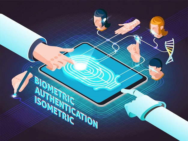Biometrische authenticatiemethoden isometrische samenstelling