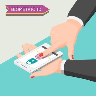 Biometrische id-achtergrond
