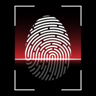 Biometrische vingerafdrukscan, identificatiesysteem