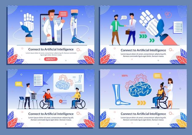 Bionische lichaamsdelen voor gehandicapte platte sjabloon set