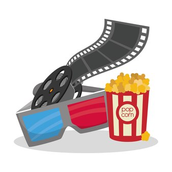 Bioscoop 3d bril reeelfilm emmer pop maïs