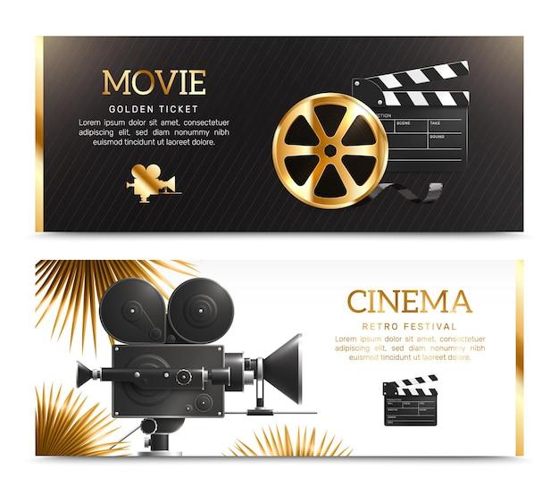 Bioscoop banner set