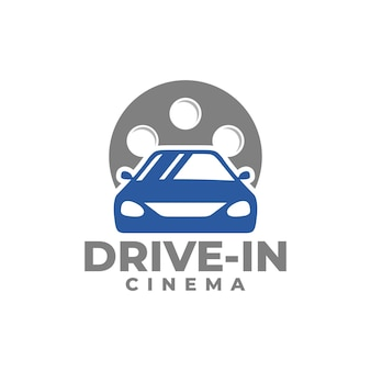 Bioscoop drivein logo auto vector film vector
