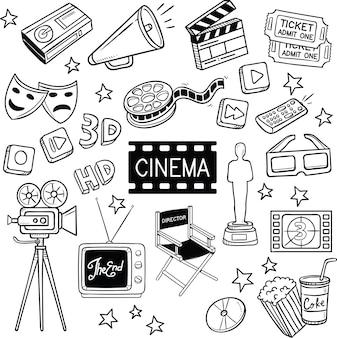 Bioscoop en film doodles.
