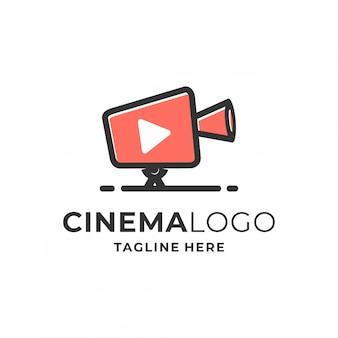 Bioscoop logo ontwerp. Premium Vector