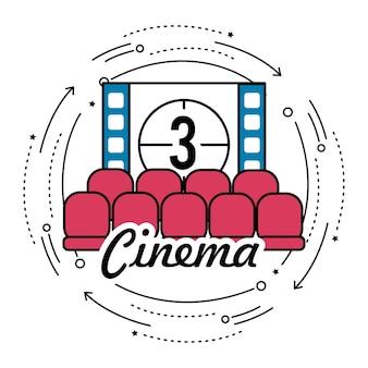 Bioscoop met film aftellen nummer 3