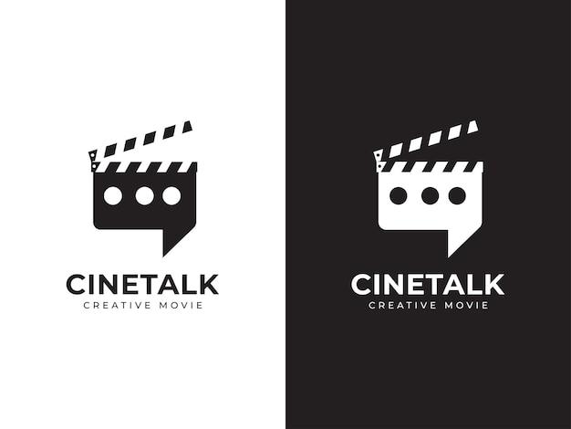 Bioscoop praten logo ontwerpconcept