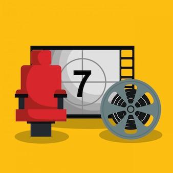 Bioscoop teller met pictogrammen