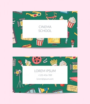 Bioscoop visitekaartje sjabloon