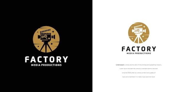 Bioscoopfilmproductie opnamestudio logo-ontwerp