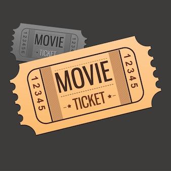 Bioscoopkaartje ontwerp