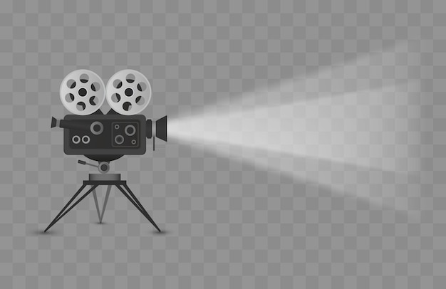 Bioscoopprojector geïsoleerd op transparante achtergrond vectorillustratie