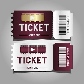 Bioscoopsjabloonontwerp met twee kaartjes