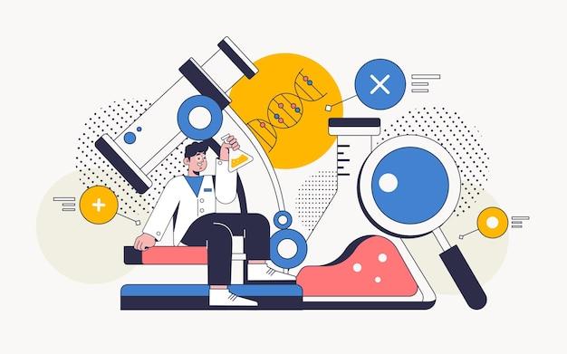 Biotechnologie concept lab-elementen