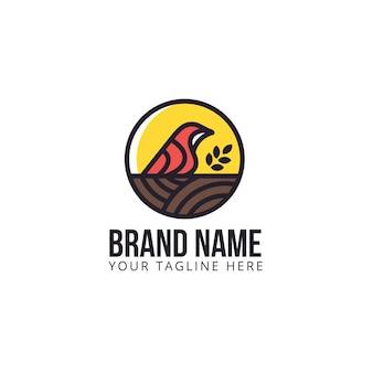 Bird nest leaf-logo