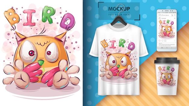 Bird picks neus poster en merchandising