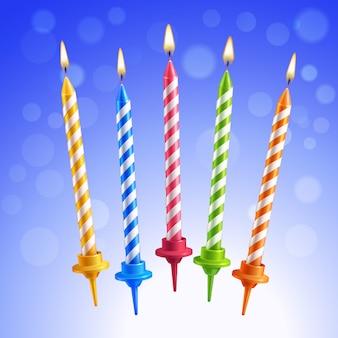 Birthday kaarsen instellen