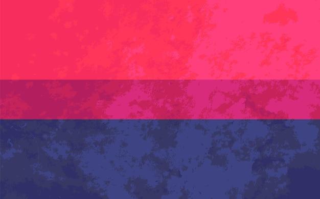 Bisexueel teken, biseksuele trotsvlag met textuur