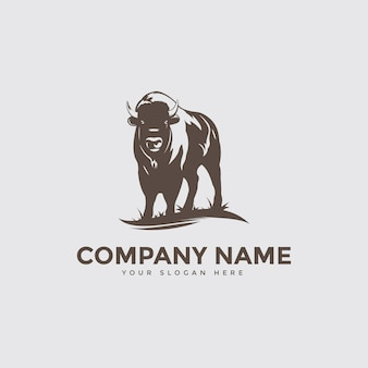 Bison boerderij logo