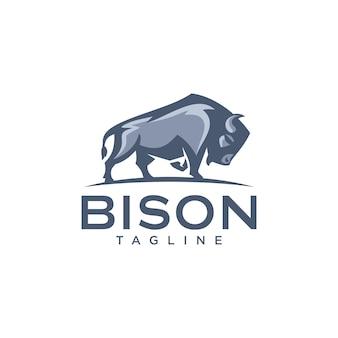 Bison-logo sjablonen