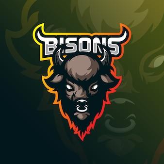 Bison mascotte logo