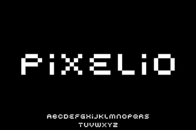 Bit font vector display font alfabet type