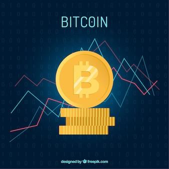 Bitcoin achtergrond met grafiek