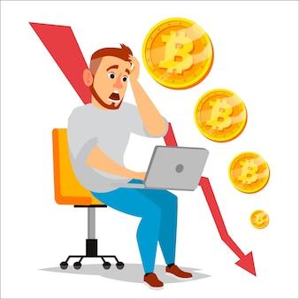 Bitcoin-crashgrafiek