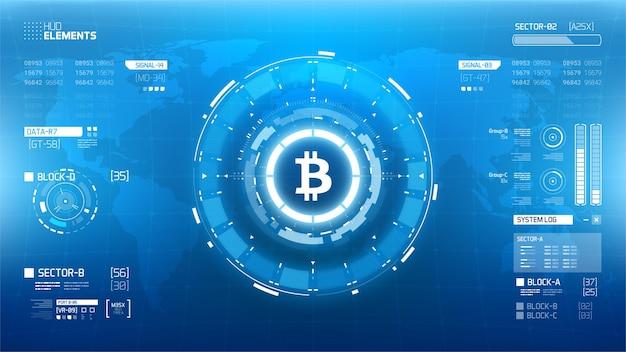 Bitcoin cryprocurrency futuristische illustratie