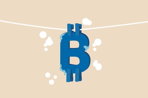 Bitcoin en cryptocurrency gebruiken voor het witwassen van geld of betaling op een donkere markt