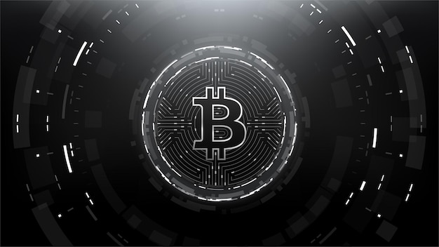 Bitcoin futuristische scifi-technologie cryptocurrency