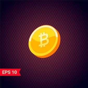 Bitcoin. fysieke bitcoin. digitale valuta.