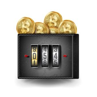 Bitcoin lederen portemonnee