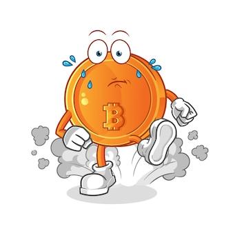 Bitcoin lopende illustratie