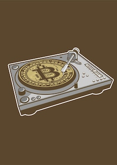 Bitcoin scratch illustratie