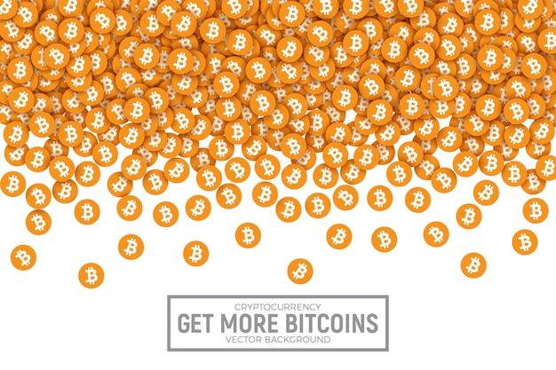 Bitcoin vector abstracte conceptuele illustratie