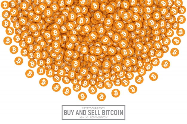 Bitcoin vector abstracte conceptuele illustratie