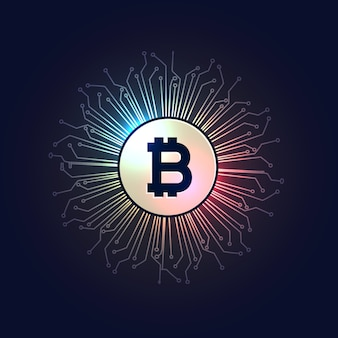 Bitcoins digitale valuta technologie stijl achtergrond