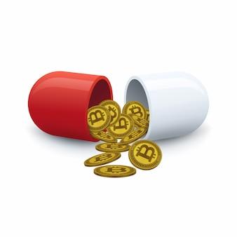 Bitcoins komen uit het medicijn