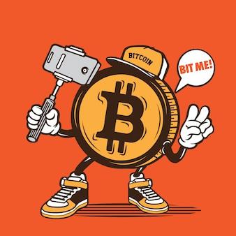 Bitcon selfie character design