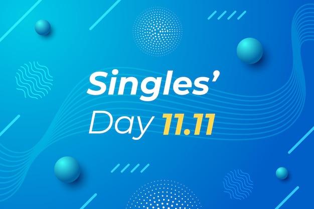Black and golden design singles 'day