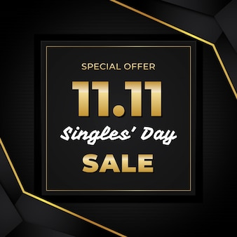 Black and golden singles 'day