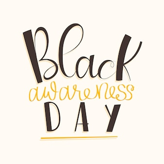 Black awareness day belettering