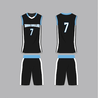 Black basketball jersey sjabloon