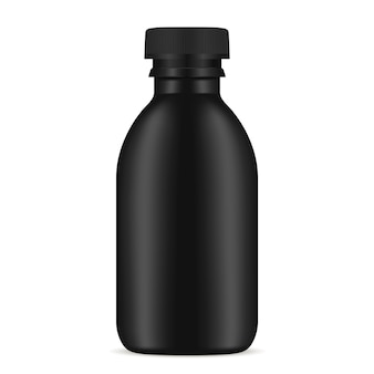 Black bottle cosmetic product
