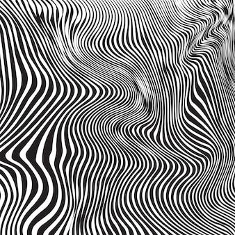 Black dynamic zebra line art texture